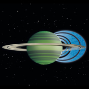 This artist's concept illustrates how charged water particles flow into the Saturnian atmosphere from the planet's rings, causing a reduction in atmospheric brightness.