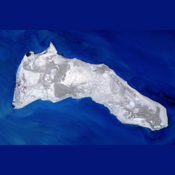 NASA's Terra spacecraft captured Kuwait's Failaka Island, located 50 km southeast of the spot where the Tigris and Euphrates Rivers empty into the Persian Gulf.