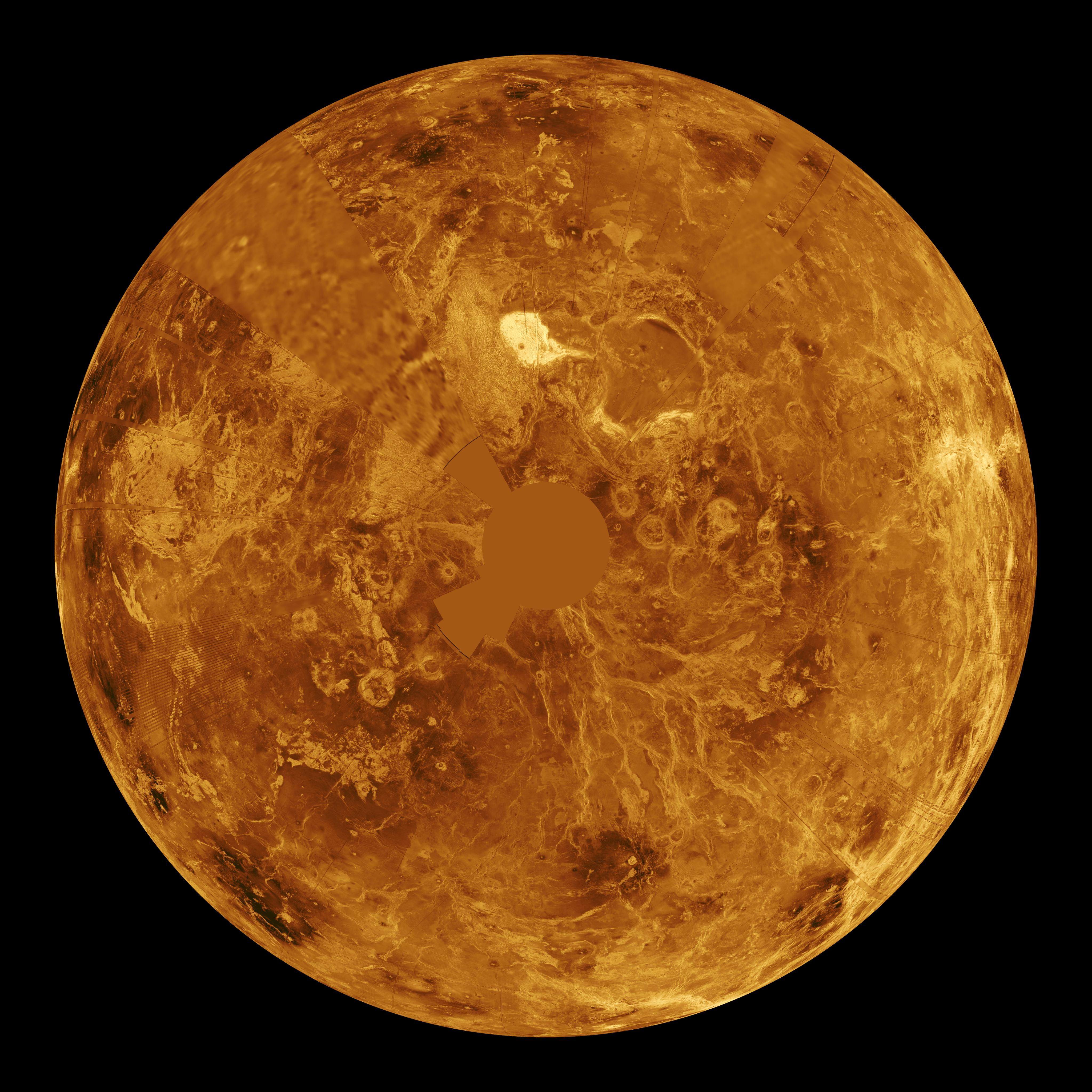Space Images | Venus - Computer Simulated Global View of ...