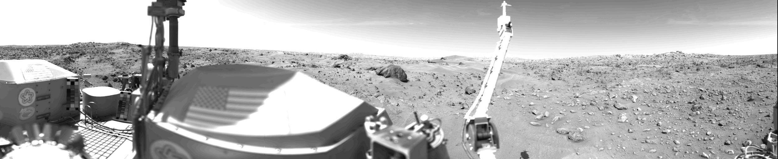 Images taken by the Viking Lander 1 Spacecraft