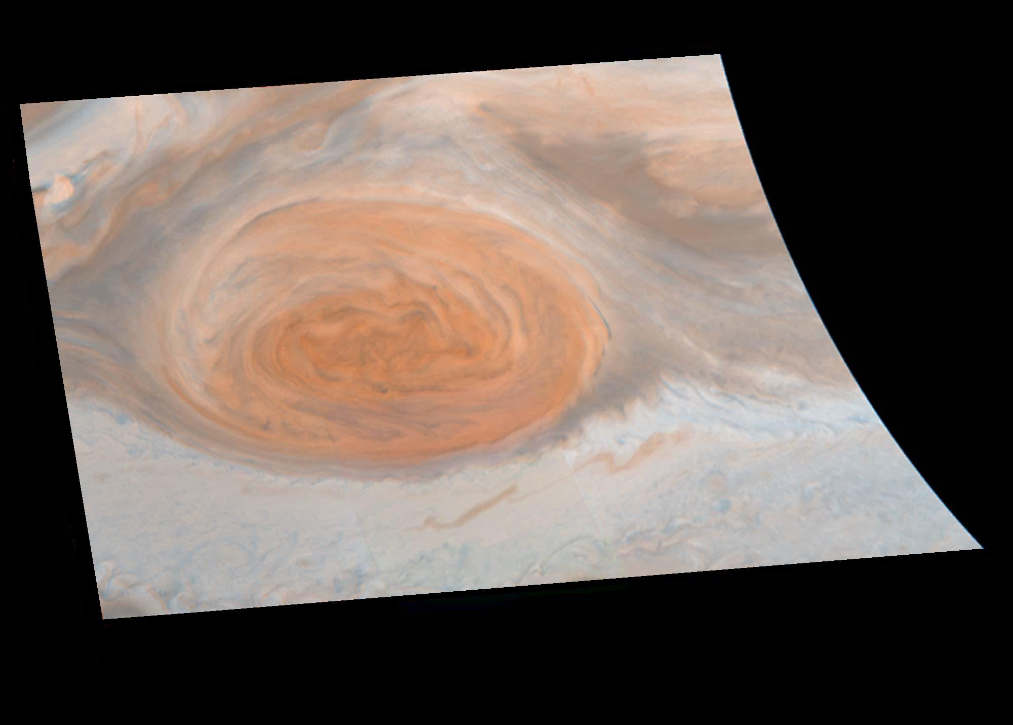 space images true color of jupiter s great red spot