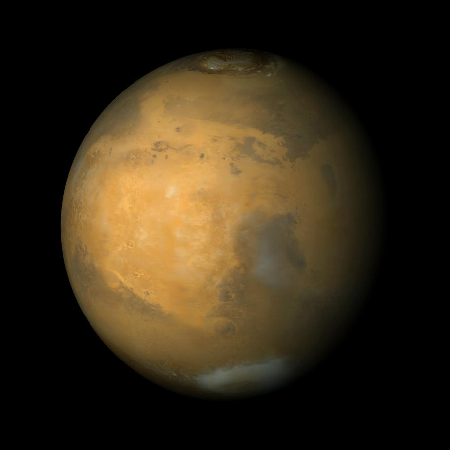 Space Images Syrtis Major And Arabia Terra Mars