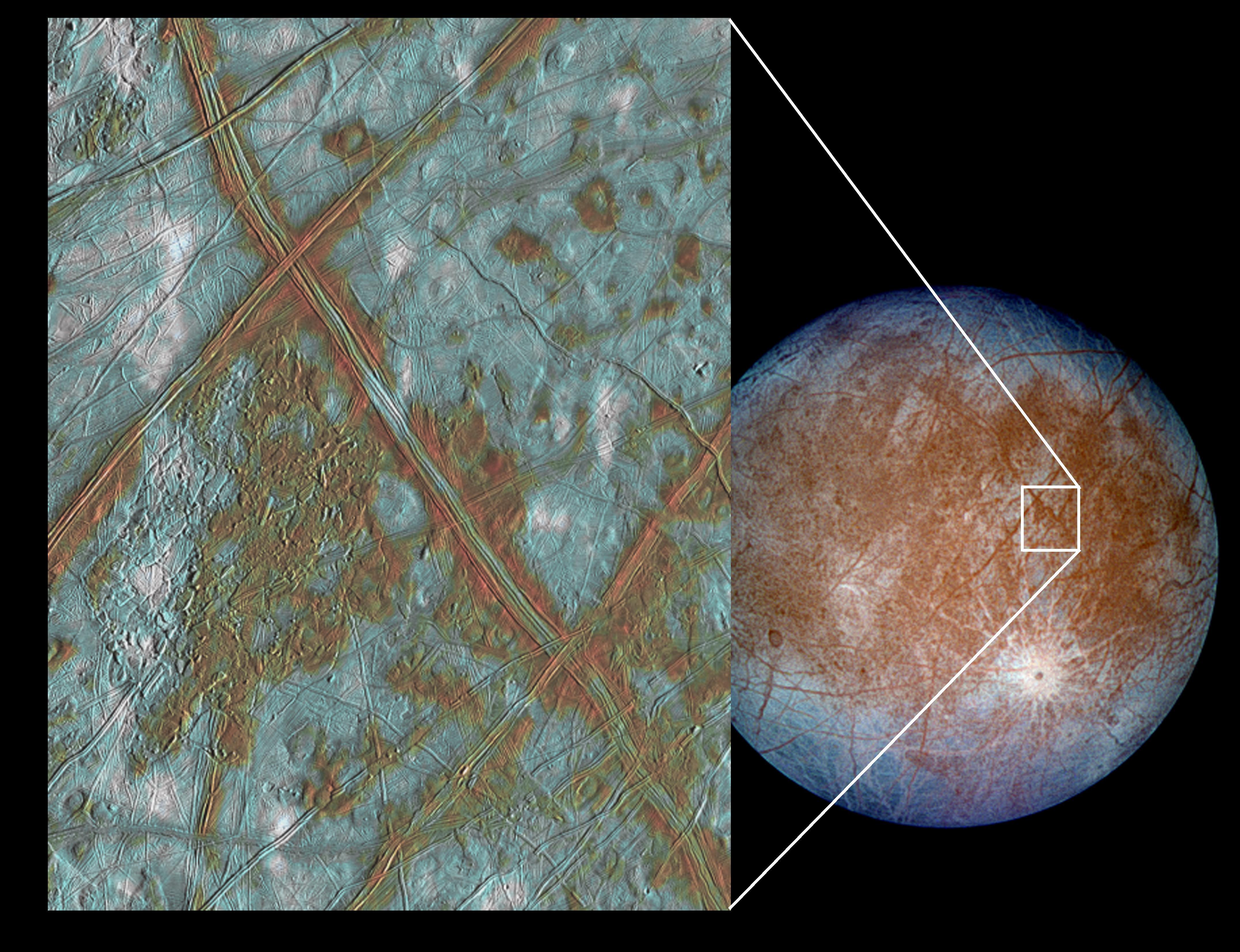 Europa - More Evidence of Subterranean Ocean  PIA03002