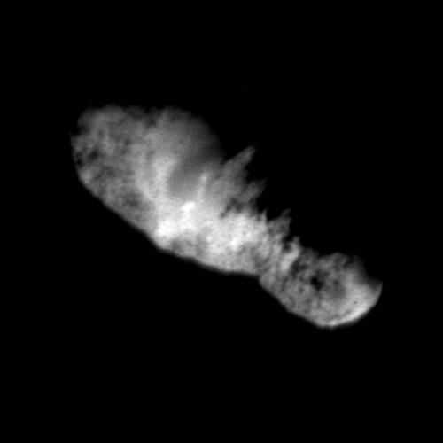 Highest Resolution Comet Picture Ever Reveals Rugged TerrainNASA Deep Space 1 photo of Comet BorrellySource: photojournal.jpl.nasa.gov PIA03500.jpg