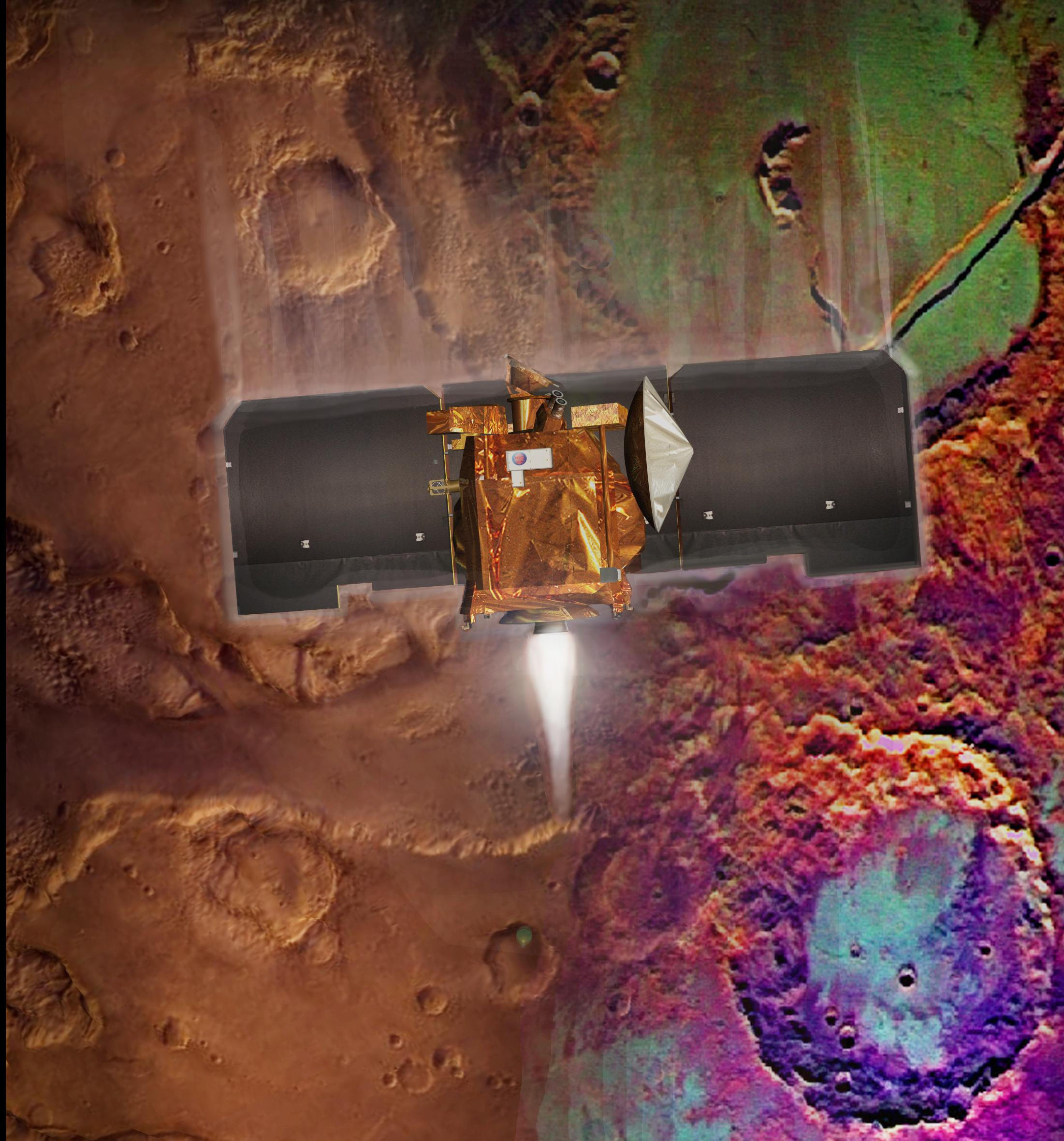 Artist's Concept of Mars Odyssey Aerobraking