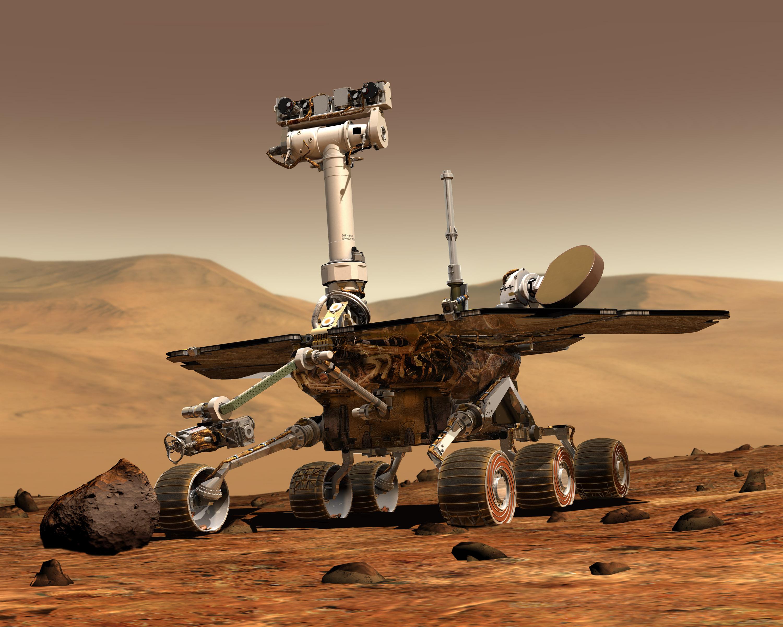 NASA好奇号火星探测车(图片版权:NASA)