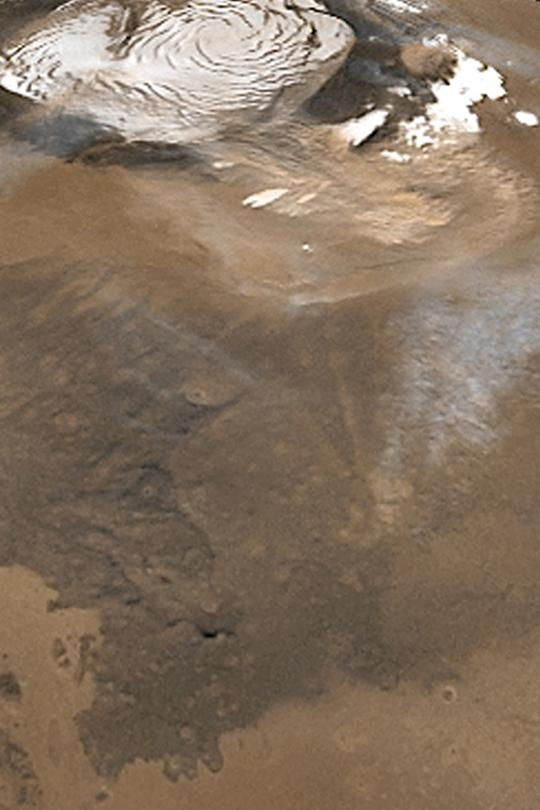 Северная полярная пылевая буря на Марсе