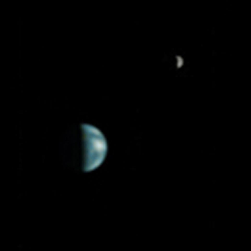 Earth from Mars - Image courtesy of NASA