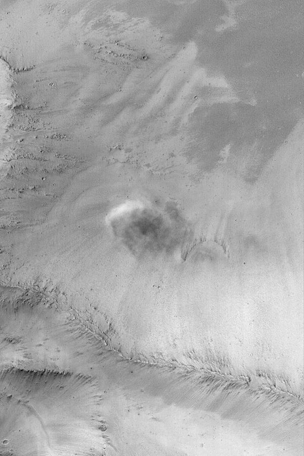 Облако пыли на Марсе