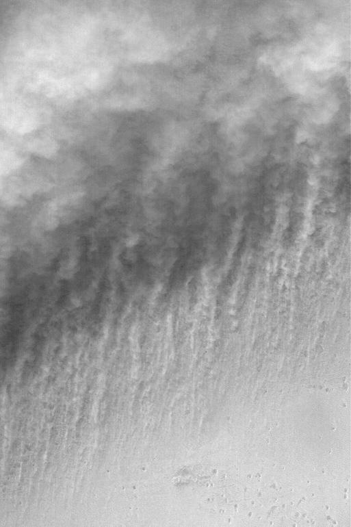 Подъем пыли на Марсе