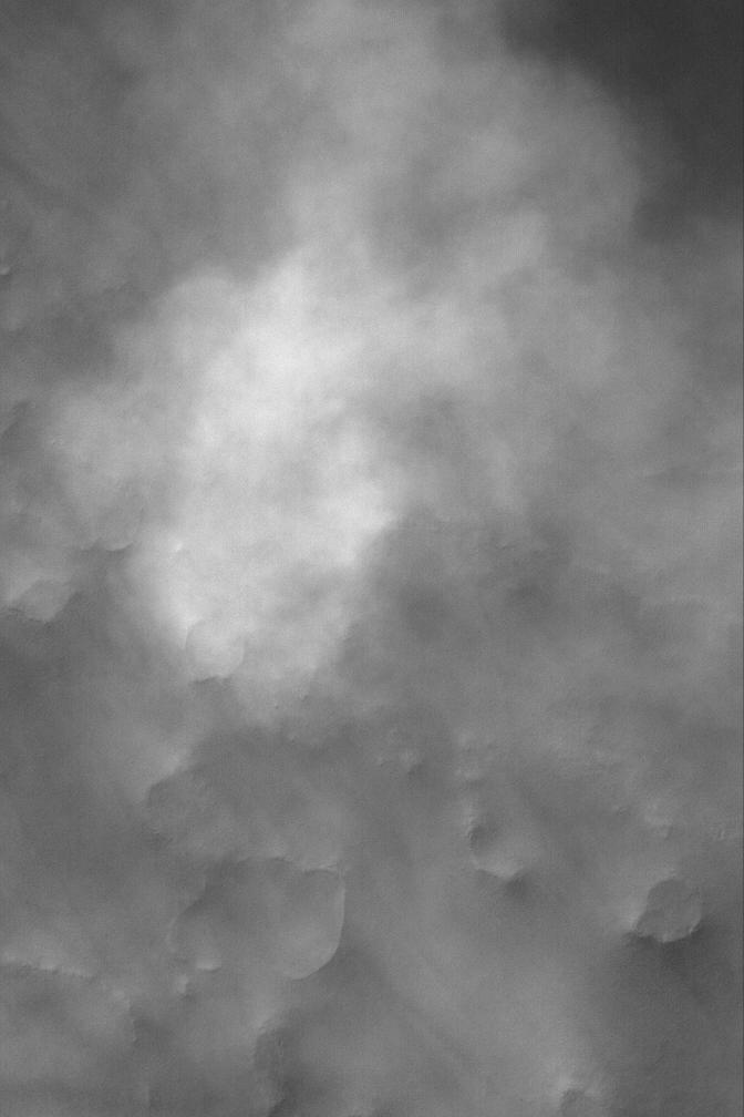 Небольшая пылевая буря на Марсе