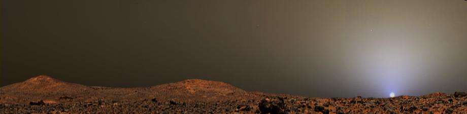 sun sets on mars nasa - photo #4