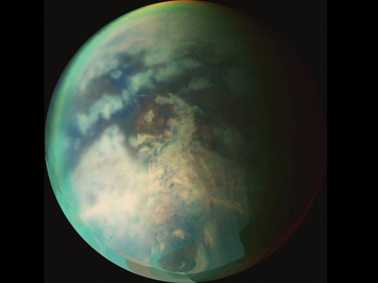 Titan seen from outer space