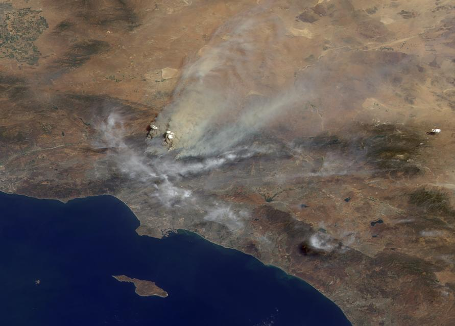 The California Wildfires Seen From Space The New York Times