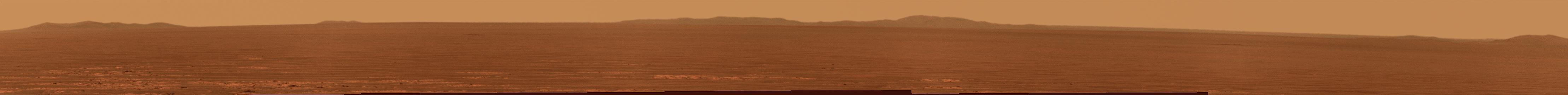 Point de vue d'Opportunity sur le cratère Endeavour
