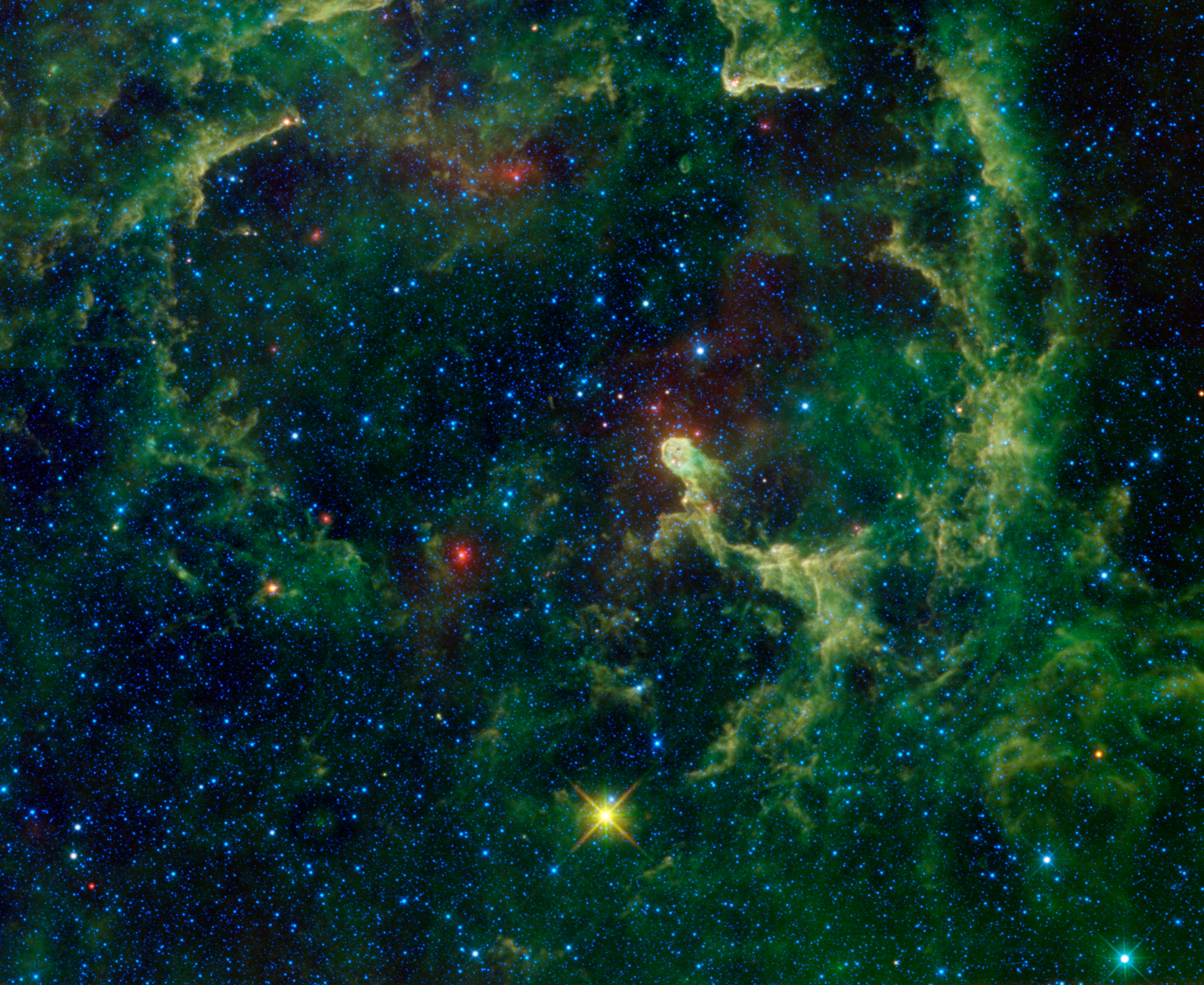 astronomy blue and green backgrounds - photo #47
