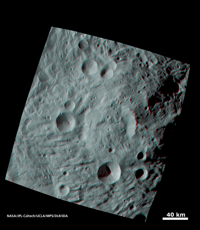 NASA DAWN Mission: UFO Crash Site on Giant Asteroid Vesta 2011  PIA14705
