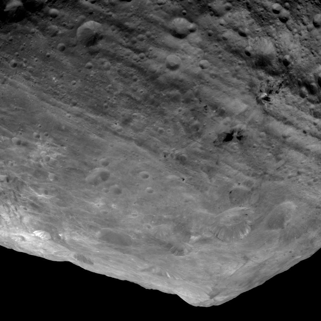 NASA DAWN Mission: UFO Crash Site on Giant Asteroid Vesta 2011  PIA14714