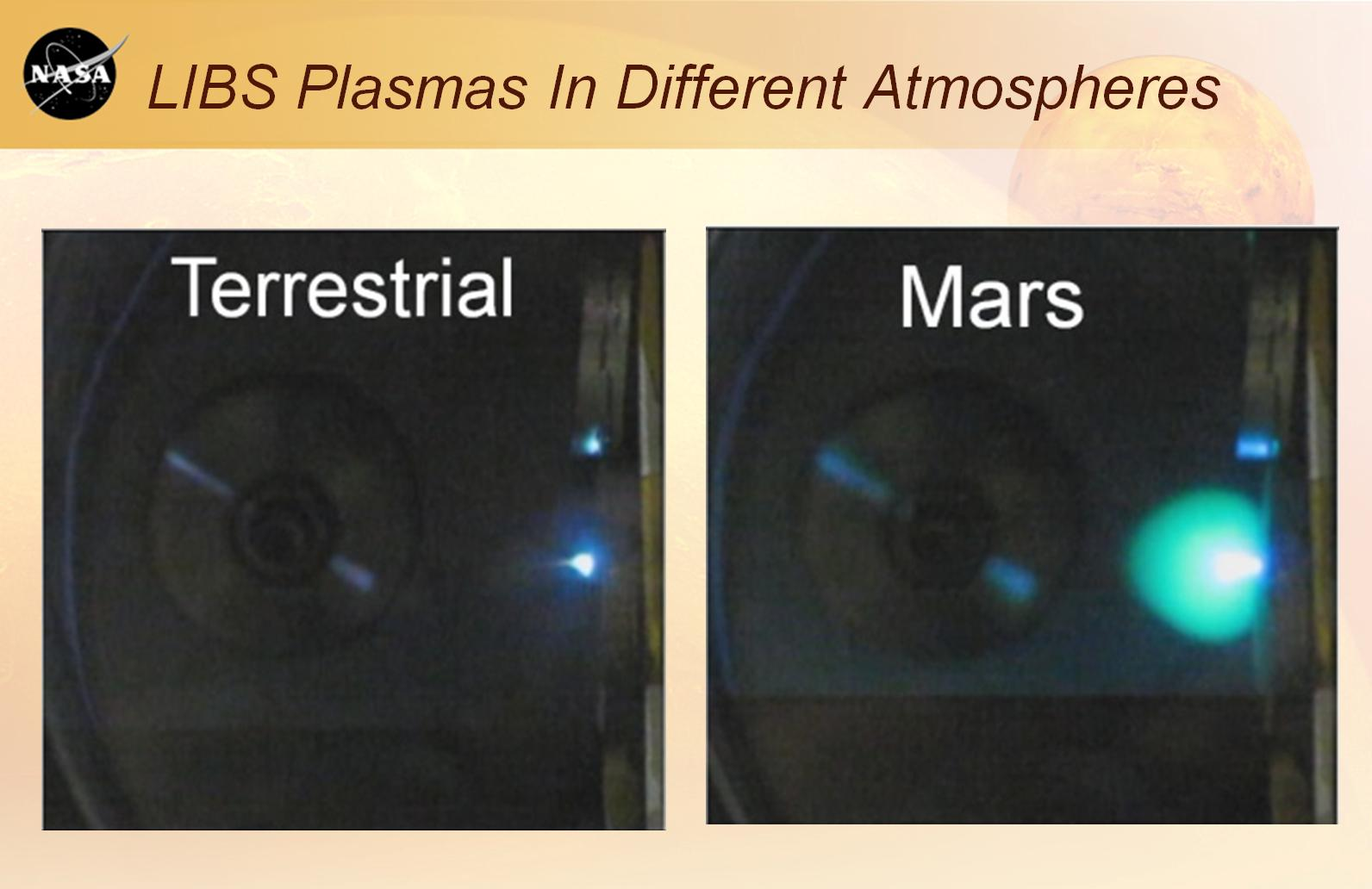PIA16088: Laser Plasmas on Earth and Mars