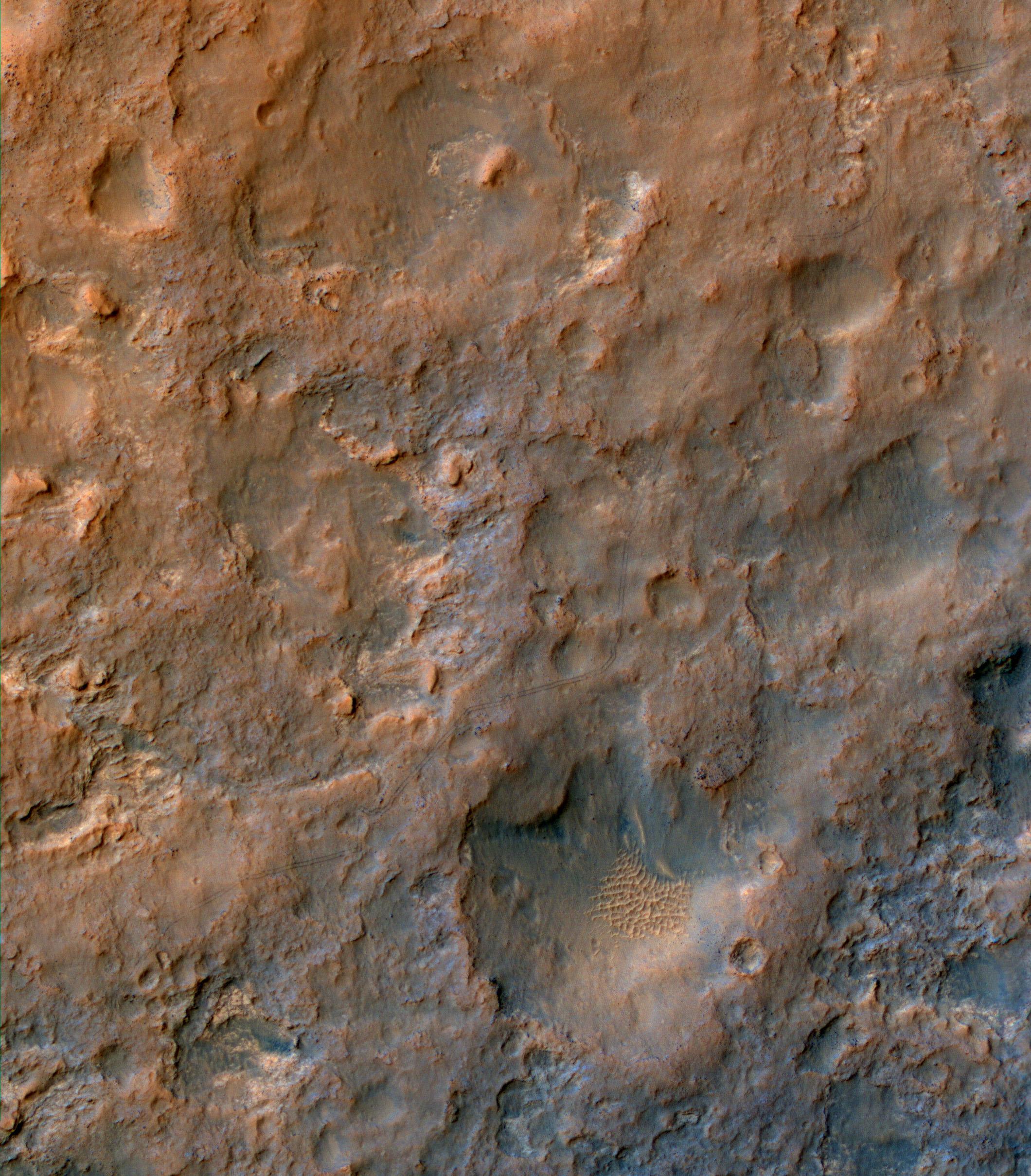 Périple de Curiosity photographié depuis l'espace