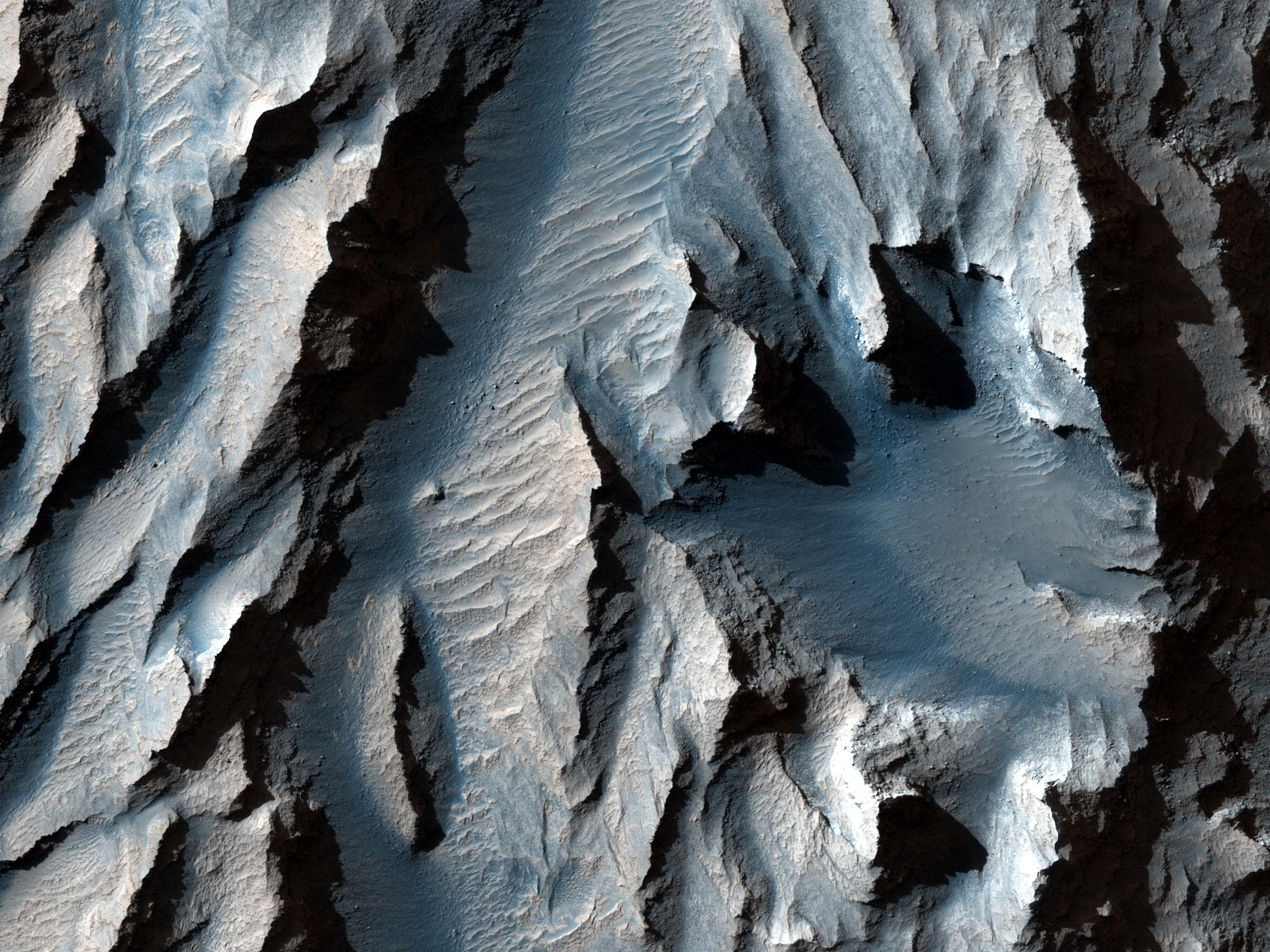Space Images   The Obliquity of Mars (Periodic Bedding in Tithonium Chasma)