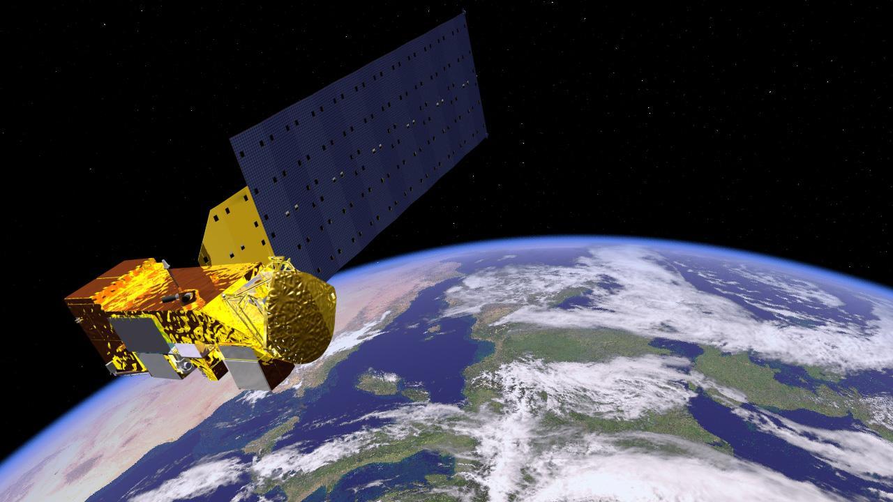 Space Images Aqua Satellite Orbiting Earth Artist S