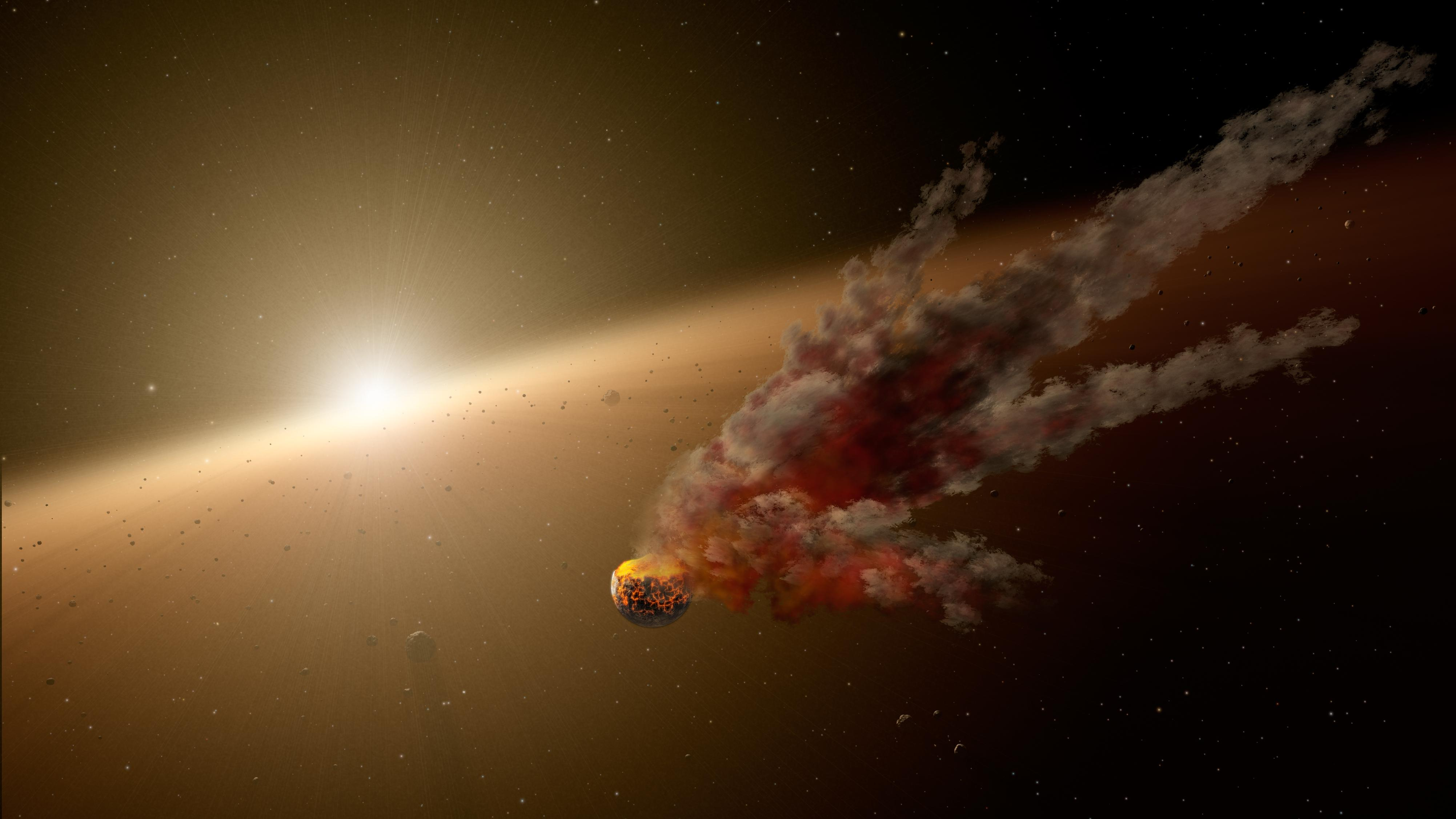 Asteroid smash-up tells of rocky road to planet formation – Astro Bob