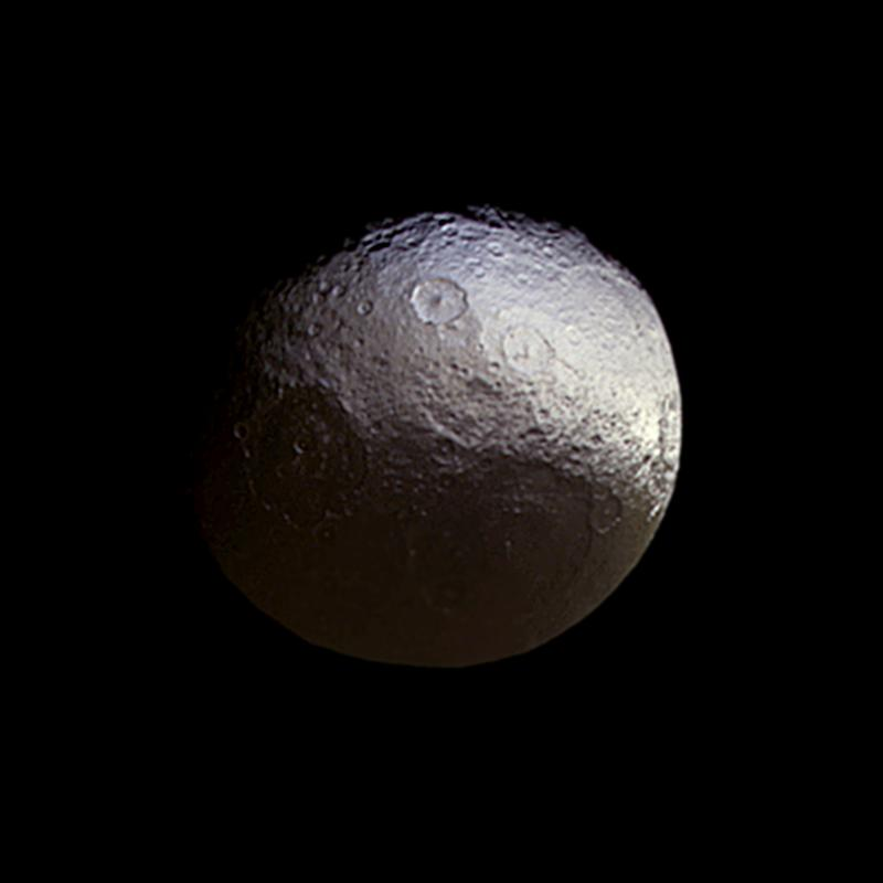 Saturn's two-faced moon Iapetus | Today's Image | EarthSky