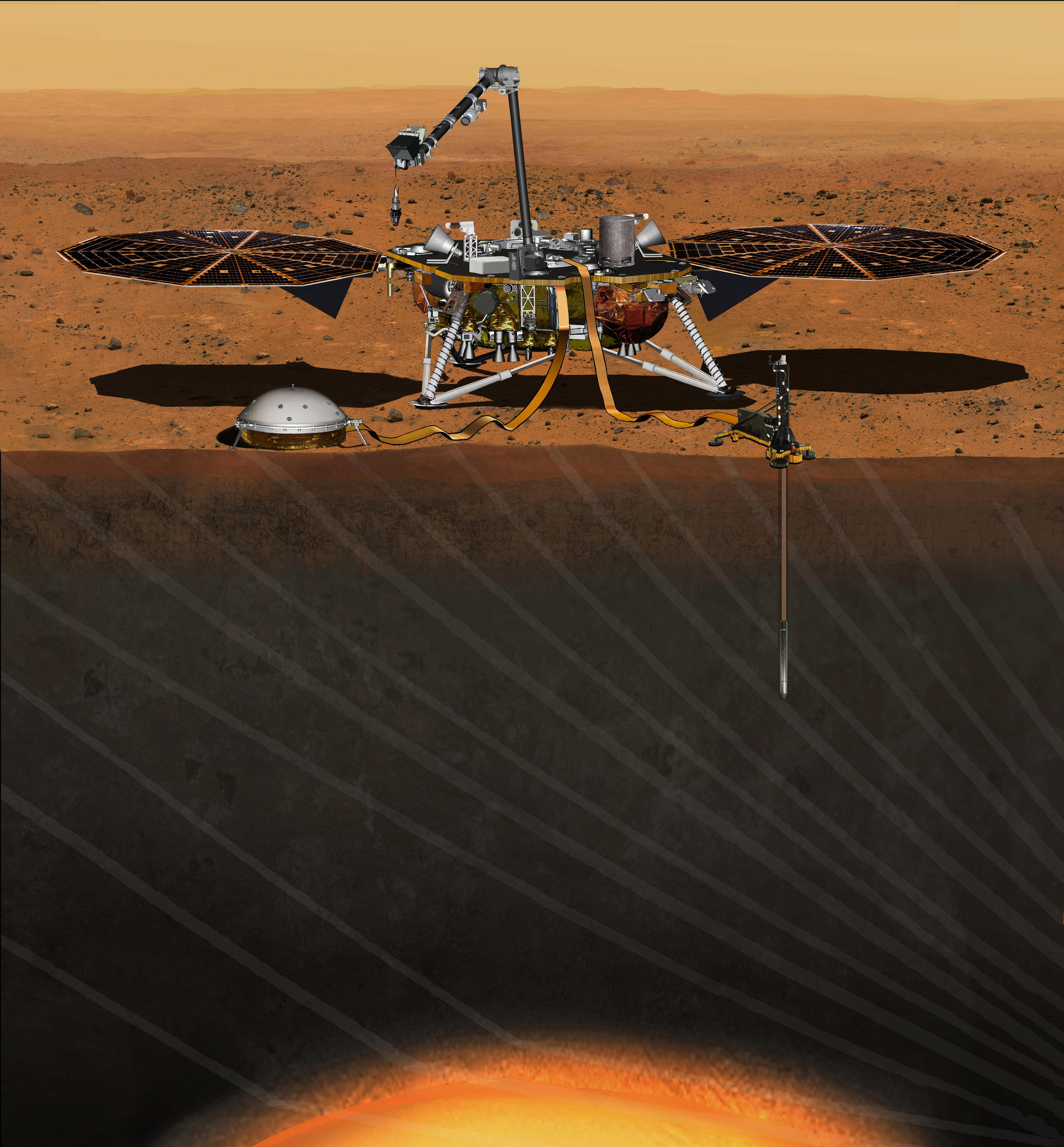 Space Images Artist S Concept Of Insight Lander On Mars