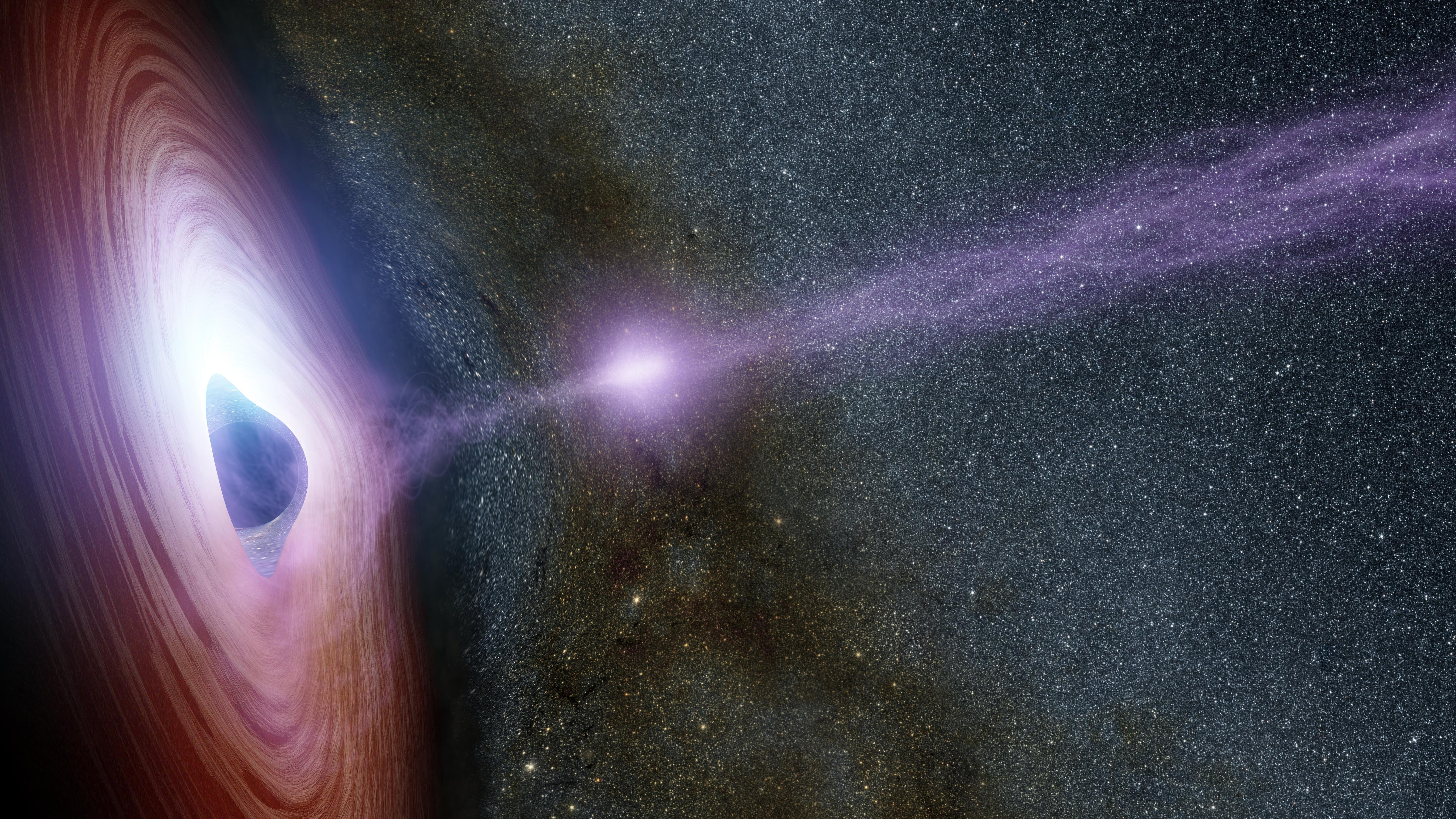 space images shifting coronas around black holes artist concept
