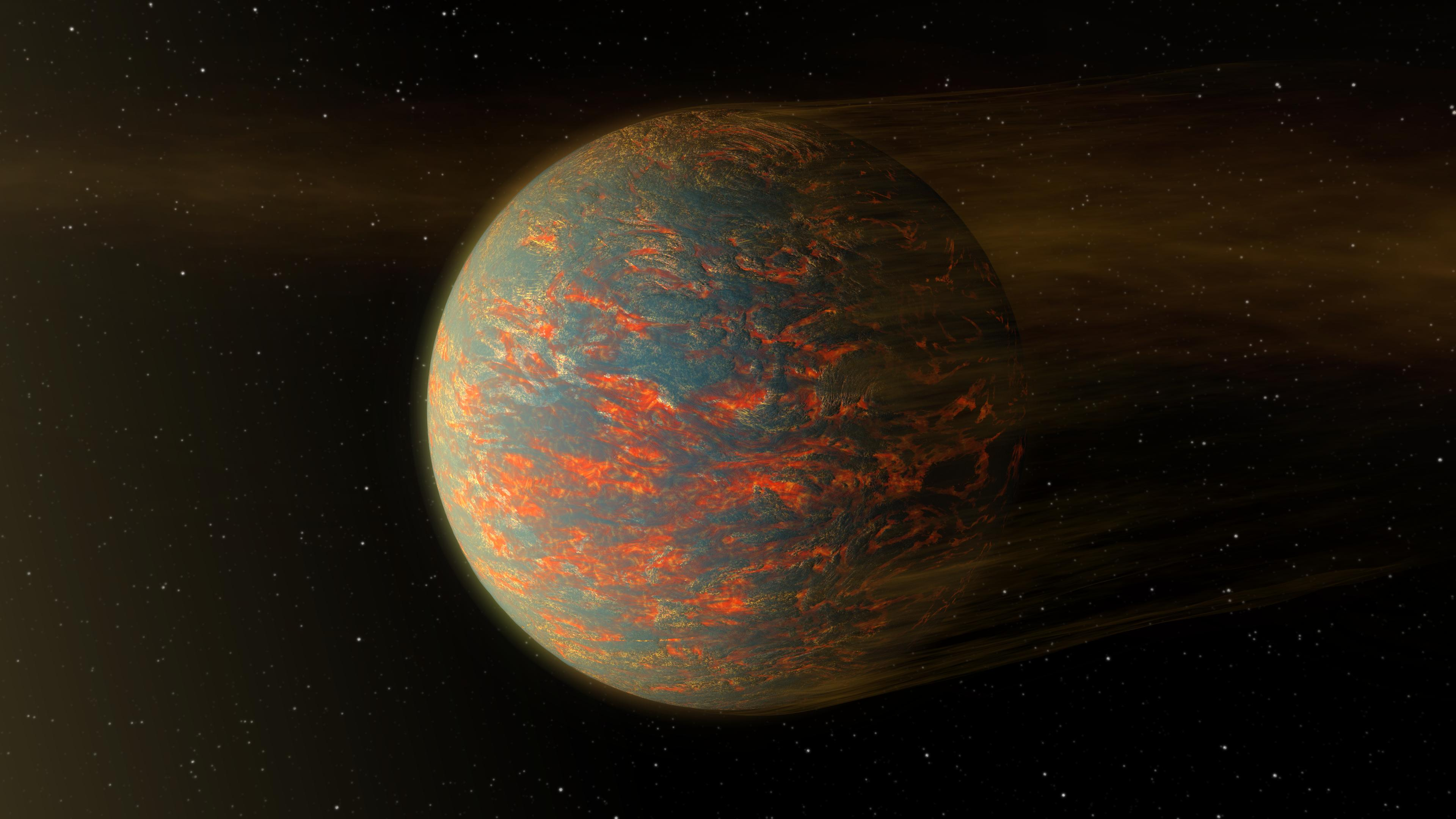Super earth temperature map created from spitzer data for Space created