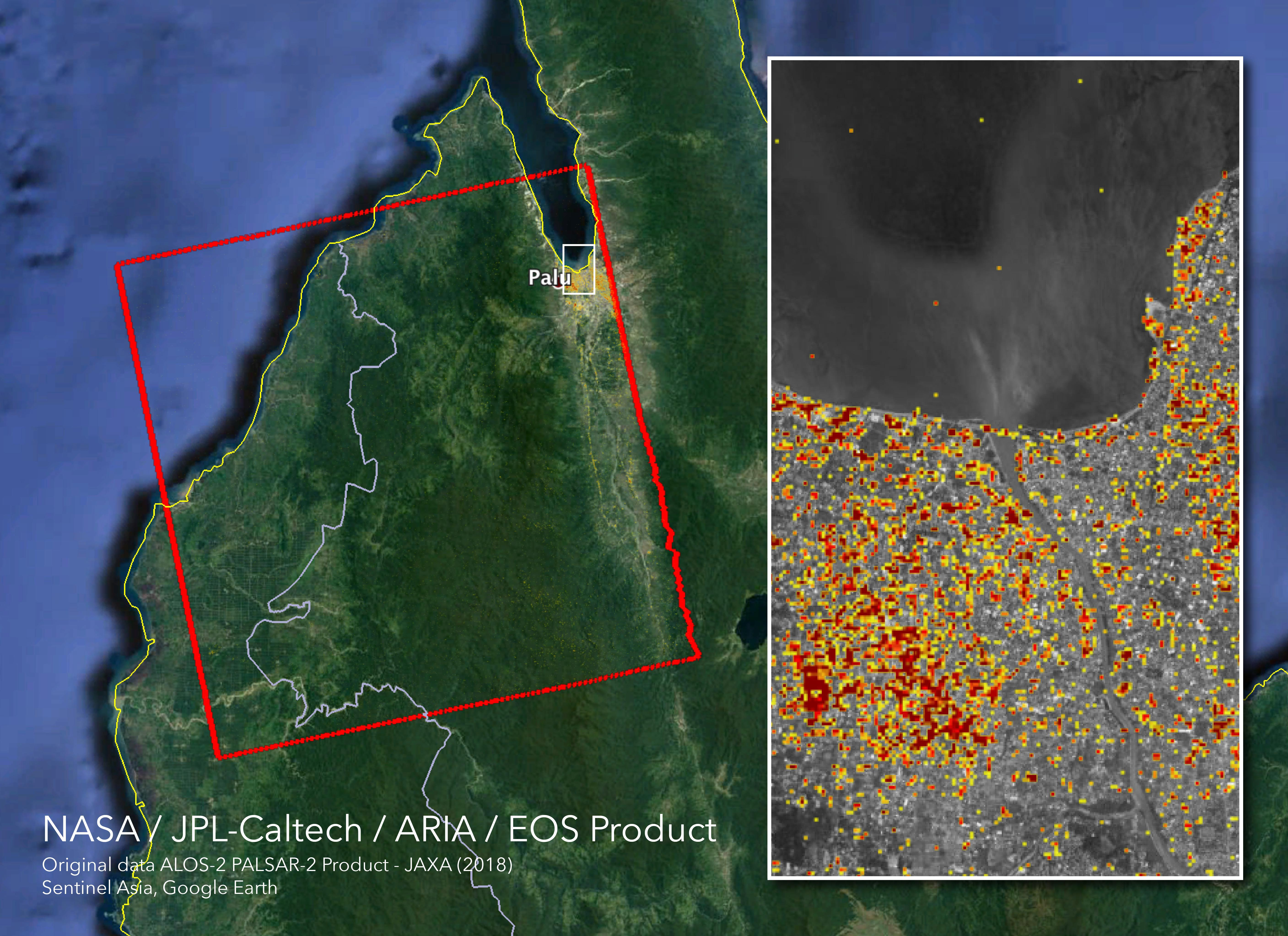 Space Images   NASA's ARIA Maps Indonesia Quake, Tsunami Damage