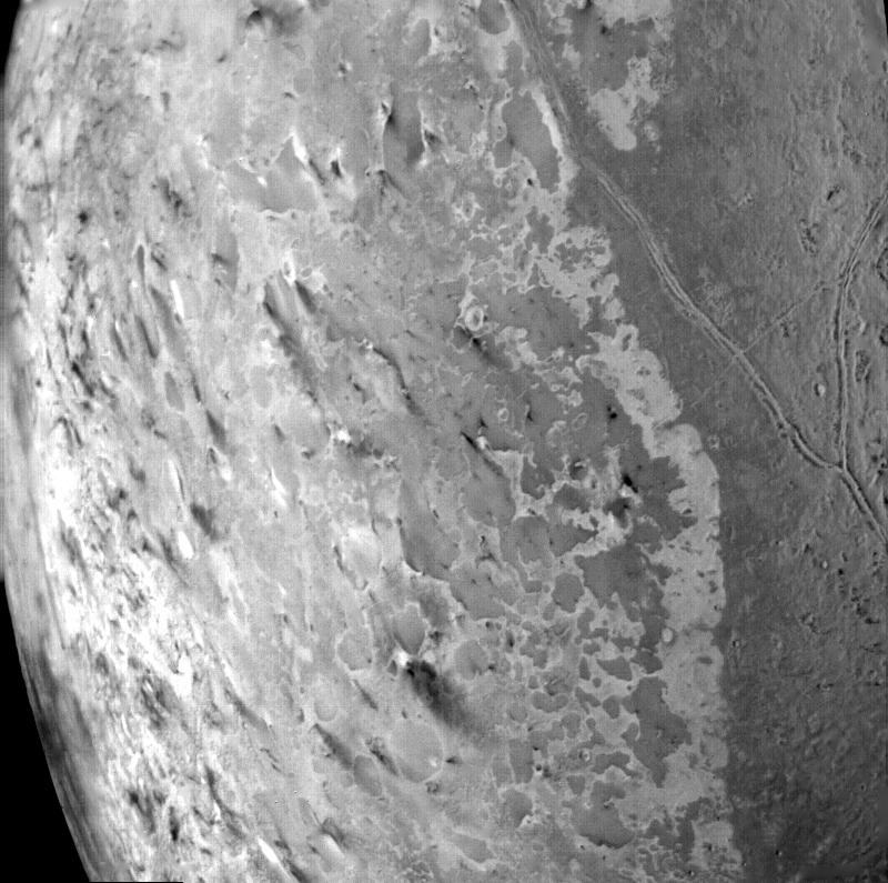 Triton South Pole dark plumes