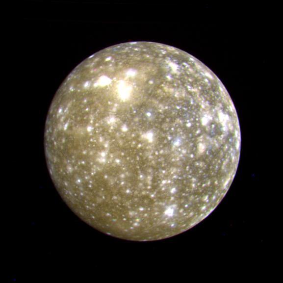 Callisto ripreso dalla Voyager 2, foto NASA/JPL