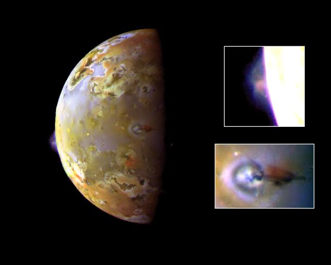 Active Volcanic Plumes on Io