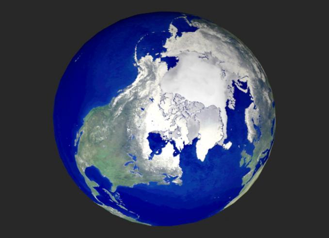 North PoleArctic Ocean Globe - Globe elevation