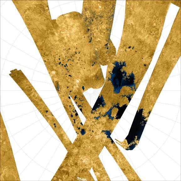 Titan north polar region