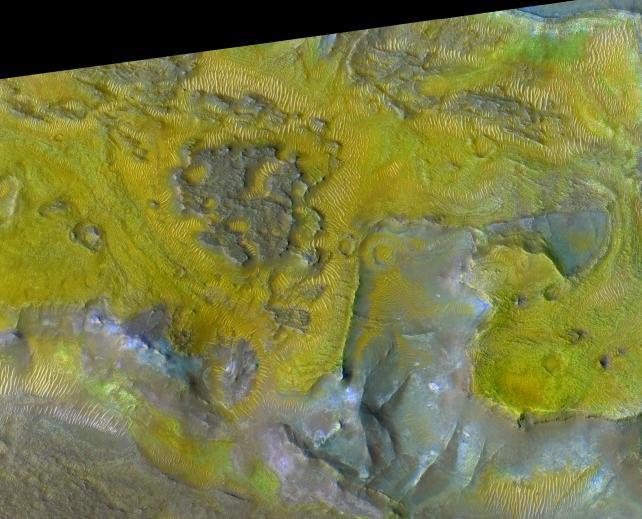 Gisements de carbonates sur Mars