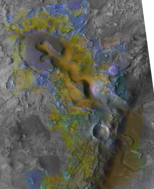 De l'eau non acide a existée sur Mars