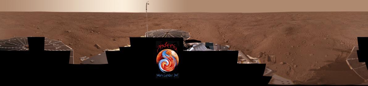 Panorama de Mars photographié par le robot Phoenix