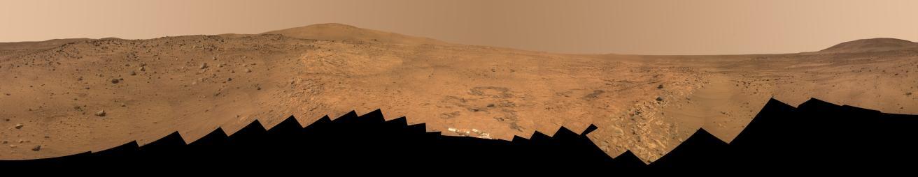 Trois grands panoramas de Mars