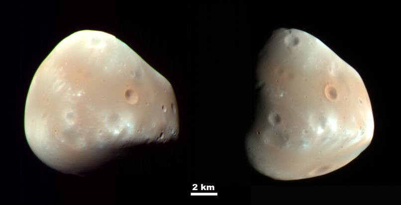 Le satellite naturel Deimos vu de plus prés