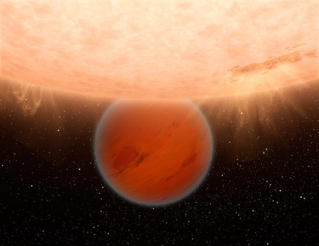 Désequilibre thermochimique dans l'atmosphère de Gliese 436 b PIA13054_modest