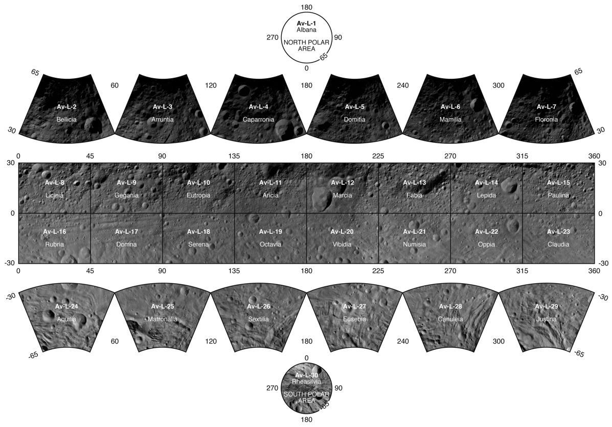 Cartographie complète de l'astéroïde Vesta