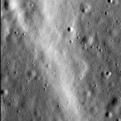 Et lile udsnit af Merkurs overflade