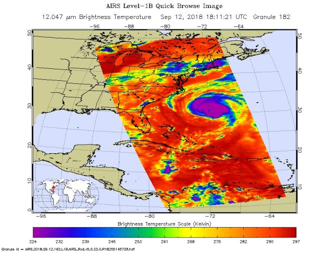Hurricane Florence from NASA*s AIRS Instrument