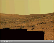 Click on the image for Spirit's 'Paige' Panorama of the Interior of 'Home Plate' (QTVR)