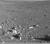 Click on the image for Spirit's View on Sol 142  (QTVR)