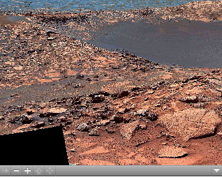 Click on the image for Of Craters and Erosion: Opportunity Examines