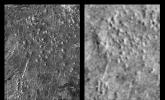 These radar images show an identical area on Venus as imaged by the NASA's Magellan spacecraft in 1991 (left) and the U.S.S.R. Venera 15/16 spacecraft in the early 1980's (right).
